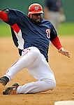 14 March 2008: Washington Nationals' infielder Cristian Guzman in action during a Spring Training game against the Cleveland Indians at Space Coast Stadium, in Viera, Florida. The Nationals defeated the visiting Indians 8-4 as both teams fielded split squads home and away...Mandatory Photo Credit: Ed Wolfstein Photo