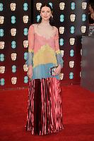 Caitriona Balfe at the 2017 EE British Academy Film Awards (BAFTA) held at The Royal Albert Hall, London, UK. <br /> 12 February  2017<br /> Picture: Steve Vas/Featureflash/SilverHub 0208 004 5359 sales@silverhubmedia.com