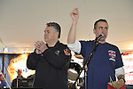Fund raiser for firefighter Ray Pfeifer on Saturday, March 31, 2012, at East Meadow Firefighters Benevolent Hall, New York, USA.Congressman Pete King (Republican - NY) spoke and helped pick raffle prize winners.