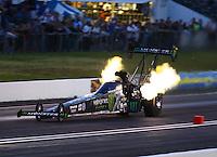 Jun 10, 2016; Englishtown, NJ, USA; NHRA top fuel driver Brittany Force during qualifying for the Summernationals at Old Bridge Township Raceway Park. Mandatory Credit: Mark J. Rebilas-USA TODAY Sports