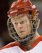 Bryan Ewing (BU - 27) - The Boston University Terriers defeated the University of Maine Black Bears 1-0 (OT) on Saturday, February 16, 2008 at Agganis Arena in Boston, Massachusetts.