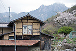 A house lies in a state of disrepair in the Masutomi district of Hokuto City, Yamanashi Prefecture on 02  May 2012. Masutomi, like many rural villages in Japan, is rapidly depopulating, though efforts by local NPOs and government initiatives are attempting to buck that trend..Photographer: Robert Gilhooly