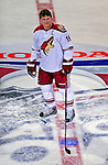 24 January 2009: Phoenix Coyotes' right wing forward Shane Doan stands at center ice as he wins the NHL Elimination Shootout, the last event in the NHL SuperSkills Competition, part of the All-Star Weekend at the Bell Centre in Montreal, Quebec, Canada. ***** Editorial Sales Only ***** Mandatory Photo Credit: Ed Wolfstein Photo
