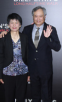 NEW YORK, NY-October 14: Jane Lee, Ang Lee at NYFF54 Special Wortldf Premiere Presentation Billy Lynn's Halftime Walk at AMC Lincoln Square in New York.October 14 , 2016. Credit:RW/MediaPunch
