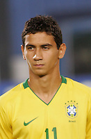Brazil's Paulo Henrique (11) stands on the pitch before the game against Costa Rica during the FIFA Under 20 World Cup Semi-final match at the Cairo International Stadium in Cairo, Egypt, on October 13, 2009. Brazil won the match  1-0.