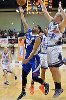 Corey Webster in action during the NBL - Wellington Saints v Nelson Giants at TSB Bank Arena, Queens Wharf, Wellington, New Zealand on Friday  2 May 2014. <br /> Photo by Masanori Udagawa. <br /> www.photowellington.photoshelter.com.