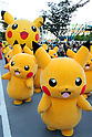 Pikachu mascots parade in Yokohama
