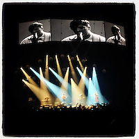 Mumford & Sons perform live at the Susquehanna Bank Center in Camden, New Jersey on February 16, 2013.