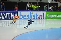 SCHAATSEN: HEERENVEEN: 29-12-2013, IJsstadion Thialf, KNSB Kwalificatie Toernooi (KKT), 1500m, Antoinette de Jong, Manon Kamminga, ©foto Martin de Jong