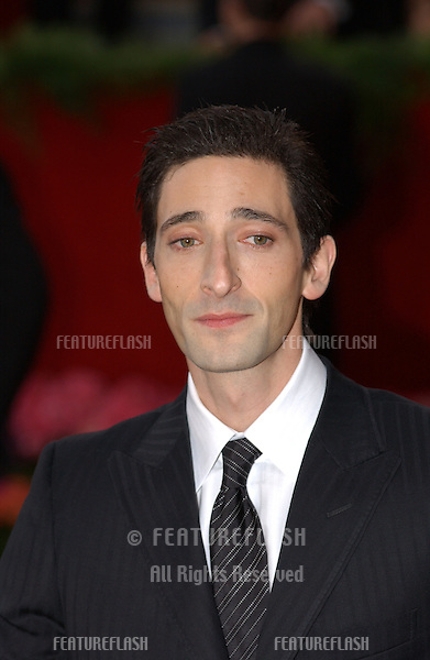 ADRIAN BRODY at the 76th Annual Academy Awards in Hollywood..February 29, 2004