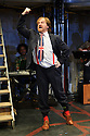 London, UK. 04.05.2016. The Busker's Opera, by Dougal Irvine, opens at the Park Theatre.  Directed by Lotte Wakeham, with set design by Anna Kezia Williams and lighting design by Christopher Nairne. Picture shows: Simon Dylan-Kane (Mayor Lockitt). Photograph © Jane Hobson.