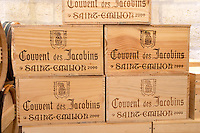 wooden cases couvent des jacobins saint emilion bordeaux france