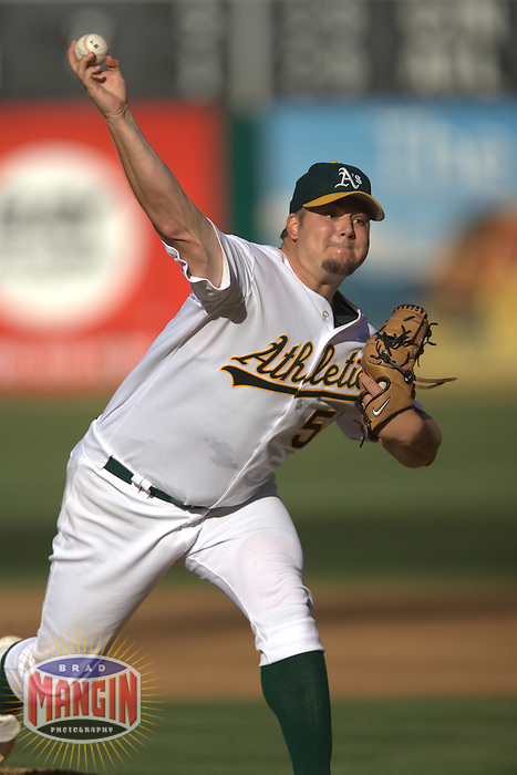 Joe Blanton. Baseball: Los Angeles Angels of Anaheim vs Oakland Athletics at McAfee Coliseum in Oakland, CA on July 8, 2006. Photo by Brad Mangin