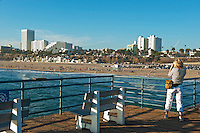 Santa Monica, CA Skyline, Photographer, Pacific Park, California, Pacific Park Amusements, Roller Coaster, Ferris Wheel, Over Water, mix of stores, restaurants, Beautiful