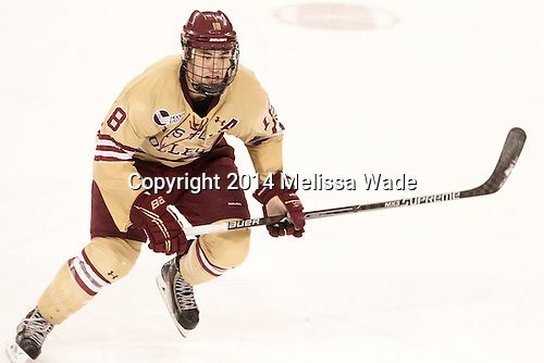 Michael Sit (BC - 18) - The Boston College Eagles defeated the visiting University of Michigan Wolverines 5-1 (EN) on Saturday, December 13, 2014, at Kelley Rink in Conte Forum in Chestnut Hill, Massachusetts.