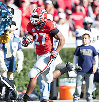 Athens, Georgia - November 22, 2014: The number 9 ranked Georgia Bulldogs beat the Charleston Southern Buccaneers 55-9 at Sanford Stadium.