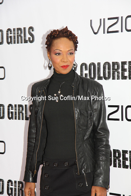 """Deadre Aziza attending The New York Special Screening of Tyler Perry's next film """"For Colored Girls"""" on October 25, 2010 at the Ziegfield Theater, New York City, New York. (Photo by Sue Coflin/Max Photos)"""