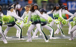 Seattle Seahawks' dance Team performs Denver Broncos  at CenturyLink Field on August 14, 2015 in Seattle Washington.  The Broncos beat the Seahawks 22-20.  © 2015. Jim Bryant Photo. All Rights Reserved.