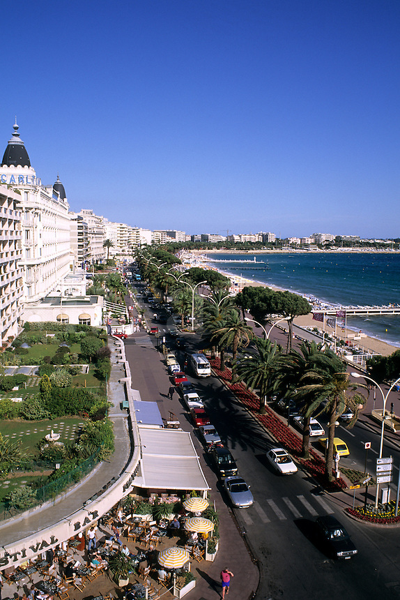 Riviera Boulevard scenic in Cannes France from above