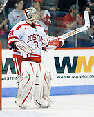 Brett Bennett (BU - 31) - The Boston University Terriers defeated the University of Maine Black Bears 1-0 (OT) on Saturday, February 16, 2008 at Agganis Arena in Boston, Massachusetts.