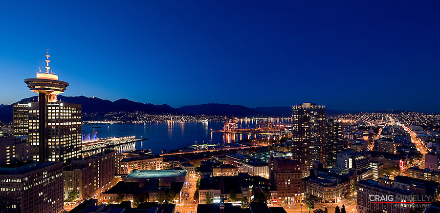Vancouver Skyline, Overlooking City and Burrard Inlet