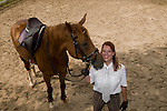 American Australia-based Nicole Bernard Longma Equestrian Equipment owner photographed with Melissa in Beijing.