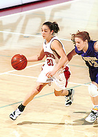 STANFORD, CA - FEBRUARY 26: Milena Flores of the Stanford Cardinal during Stanford's 78-73 win over the Washington Huskies on February 26, 2000 at Maples Pavilion in Stanford, California.
