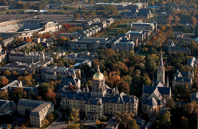 ... Aerial Campus Looking South.jpg | University of Notre Dame Photography
