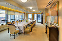 The dining area of The Clare, a luxurious highrise  retirement community located in Chicago's Gold Coast Area. Designed by  Perkins + Will, interior design provided by Interior Design Associates and erected by Lend Lease.
