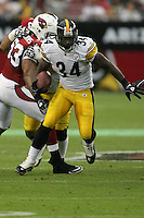 10/23/11 Glendale, AZ: Pittsburgh Steelers running back Rashard Mendenhall #34 during an NFL game played at University of Phoenix Stadium between the Arizona Cardinals and the Pittsburgh Steelers. The Steelers defeated the Cardinals 32-20.
