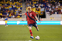 Brek Shea (11) of the United States. The men's national team of the United States (USA) was defeated by Ecuador (ECU) 1-0 during an international friendly at Red Bull Arena in Harrison, NJ, on October 11, 2011.