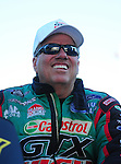 May 4, 2012; Commerce, GA, USA: NHRA funny car driver John Force during qualifying for the Southern Nationals at Atlanta Dragway. Mandatory Credit: Mark J. Rebilas-
