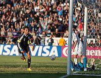 Santa Clara, Ca - Sunday, October 21, 2012: The  San Jose Earthquakes tied the LA Galaxy 2-2 at Buck Shaw Stadium. Chris Wondolowski celebrates his goal.