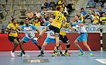 GER - Mannheim, Germany, September 23: During the DKB Handball Bundesliga match between Rhein-Neckar Loewen (yellow) and TVB 1898 Stuttgart (white) on September 23, 2015 at SAP Arena in Mannheim, Germany. Final score 31-20 (19-8) .  Harald Reinkind #27 of Rhein-Neckar Loewen<br /> <br /> Foto &copy; PIX-Sportfotos *** Foto ist honorarpflichtig! *** Auf Anfrage in hoeherer Qualitaet/Aufloesung. Belegexemplar erbeten. Veroeffentlichung ausschliesslich fuer journalistisch-publizistische Zwecke. For editorial use only.