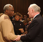 hington, D.C. - March 24, 2004 -- Abraham Scott, left,  shakes hands with  Richard A. Clarke, right, at the conclusion of his testimony before the National Commission on Terrorist Attacks Upon the United States hearing  in Washington, DC on March 24, 2004. <br /> Credit: Ron Sachs / CNP<br /> [RESTRICTION: No New York Metro or other Newspapers within a 75 mile radius of New York City]