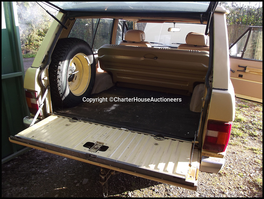 BNPS.co.uk (01202 55833)<br /> Pic: CharterHouseAuctioneers/BNPS<br /> <br /> ***Please Use Full Byline***<br /> <br /> The boot of the 1970 Range Rover Velar.<br /> <br /> An incredibly rare prototype of the very first Range Rover model has emerged for sale for &pound;30,000 more than 40 years after it was built.<br /> <br /> The much-lauded motor was one of just 40 initially built under the codename Velar, a brand set up by Land Rover to develop their now iconic Range Rover model in the late 60s.<br /> <br /> The Velar for sale - the 38th of the 40 made - is tipped to fetch &pound;30,000 when it goes under the hammer at Charterhouse Auctions in Sherborne, Dorset.