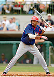 10 March 2006: Brandon Watson, outfielder for the Washington Nationals, lays off a pitch during a Spring Training game against the Houston Astros. The Astros defeated the Nationals 8-6 at Osceola County Stadium, in Kissimmee, Florida...Mandatory Photo Credit: Ed Wolfstein..