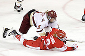 Taylor Wasylk (BC - 9), Holly Lorms (BU - 8) - The visiting Boston University Terriers defeated the Boston College Eagles 1-0 on Sunday, November 21, 2010, at Conte Forum in Chestnut Hill, Massachusetts.