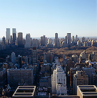 The stunning views from the apartment take in the New York skyline and Central Park