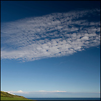 Cloud formation over headland
