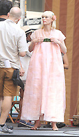 NEW YORK, NY-July 17: Tida Swinton shooting on location for Netflix & Plan B Enterainment  film Okja in New York. NY July 17, 2016. Credit:RW/MediaPunch