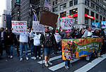 "NewYork, United States, October 25, 2011.Protesters affiliated with the Occupy Wall Street movement, march around manhattan in New York October 25, 2011. VIEWpress /Kena Betancur..Forty-three percent of Americans agree with the views of the ""Occupy Wall Street"" movement.Local media report.."