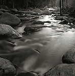 1976. Stream with movement somewhere in New Hampshire white mountains.