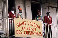 Europe/France/DOM/Antilles/Petites Antilles/Guadeloupe/Pointe-à-Pitre : Fête des cuisinières - Derniers préparatifs à la maison des cuisinières
