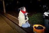 WARSAW, POLAND, December 17, 2016<br /> Woman resting during late night demonstration of the oposition parties and KOD by the Sejm (Polish parliament)<br /> The opposition objects to government plans to limit the number of journalists allowed to cover parliamentary proceedings. The MPs' protest delayed a budget vote, which was later held away from the main parliament chamber. <br /> (Photo by Piotr Malecki / Napo Images)<br /> ****<br /> WARSZAWA, 17.12.2016. <br /> Nocna manifestacja opozycji pod sejmem w obronie wolnosci mediow <br /> Fot. Piotr Malecki / Napo Images<br /> <br /> ###ZDJECIE MOZE BYC UZYTE W KONTEKSCIE NIEOBRAZAJACYM OSOB PRZEDSTAWIONYCH NA FOTOGRAFII### ### Cena zdjecia w/g cennika FORUM plus 50% (cena minimalna 100 PLN)