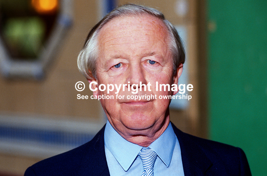 Sir Marcus Fox, MP, Conservative Party, UK, 19871023MF.<br /> <br /> Copyright Image from Victor Patterson, 54 Dorchester Park, Belfast, UK, BT9 6RJ<br /> <br /> t1: +44 28 9066 1296 (from Rep of Ireland 048 9066 1296)<br /> t2: +44 28 9002 2446 (from Rep of Ireland 048 9002 2446)<br /> m: +44 7802 353836<br /> <br /> e1: victorpatterson@me.com<br /> e2: victorpatterson@gmail.com<br /> <br /> The use of any of my copyright images is subject to my Terms &amp; Conditions. It is IMPORTANT that you familiarise yourself with them. They are available at my website, victorpatterson.com.<br /> <br /> None of my copyright images may be used on the Internet unless they are visibly watermarked, i.e. &copy; Victor Patterson within the body of the image. My metadata, denoting my copyright must NOT be deleted. <br /> <br /> Web use is extra at currently recommended NUJ rates. Maximum permitted web size is<br />  400kb. <br /> <br /> Images must not be passed on to a third party - they are for the use of the authorised recipient only.