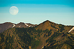 "The day before a ""supermoon"" on Hurricane Ridge, Olympic National Park"