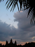 Silhouette of Angkor Wat at Sunset - Cambodia
