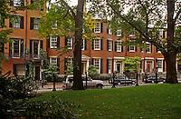 Louisberg Square Beacon Hill district Boston Massachuetts