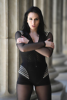 WEST PALM BEACH, FL - MAY 06: Madame Mayhem poses for a portrait in down town West Palm Beach on May 06, 2017 in West Palm Beach Florida. Credit: mpi04/MediaPunch